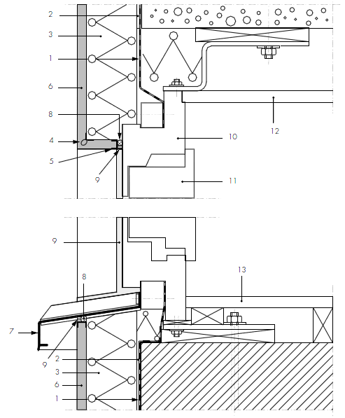 (a) Schematic of window installation in EIFS with flashing