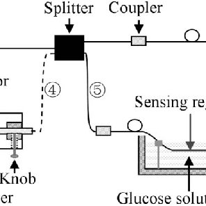 Schematic diagram of light transmission in fiber with