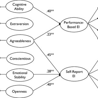 Structural equation model of predictors of performance