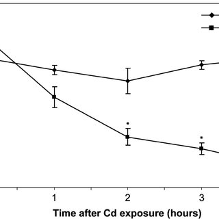 Effect of 75 μM Cd treatment on the total glutathione