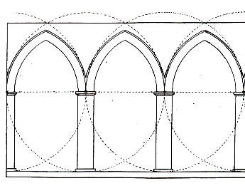 cathedral architecture gothic arches diagram 2006 toyota tacoma parts b vesica pisces in the working lines of left to right