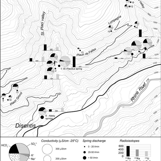 Geological block diagram of the study area and location of