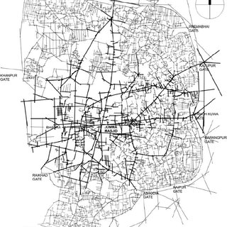 Land use map of the Walled City of Ahmedabad (based on