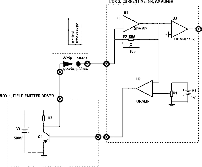 Schematic of the current regulator circuit attached to the