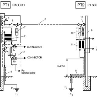 Diagrams for PT1 and PT2 at 20 (6) kV connection 1. Wood