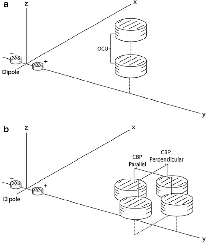 Schematic of a dipole current source located around the