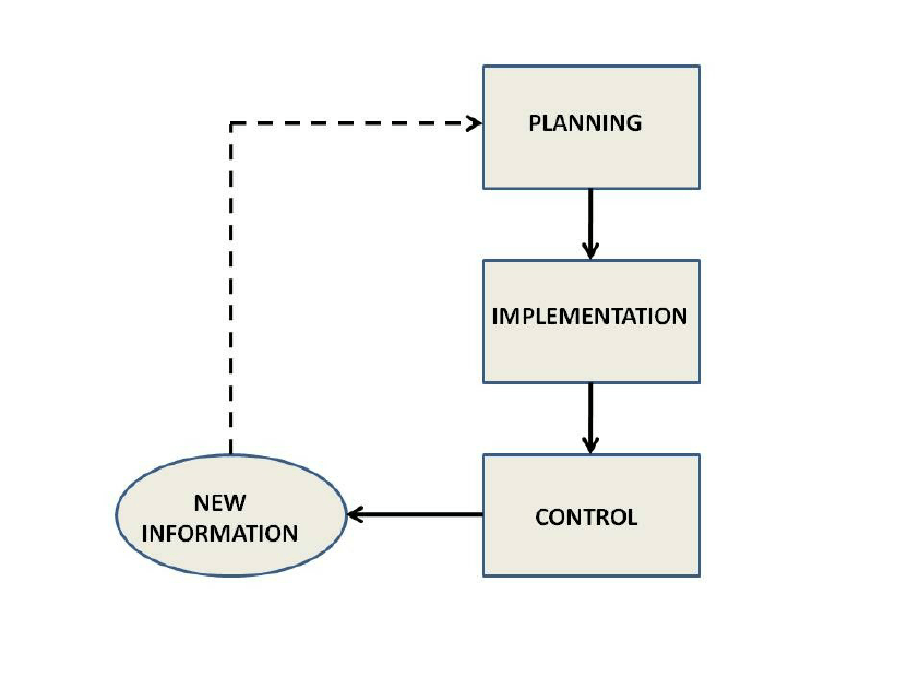 Management flow chart based on the management process