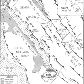Figure D6.4 Summary stratigraphy of the Gulf of Suez