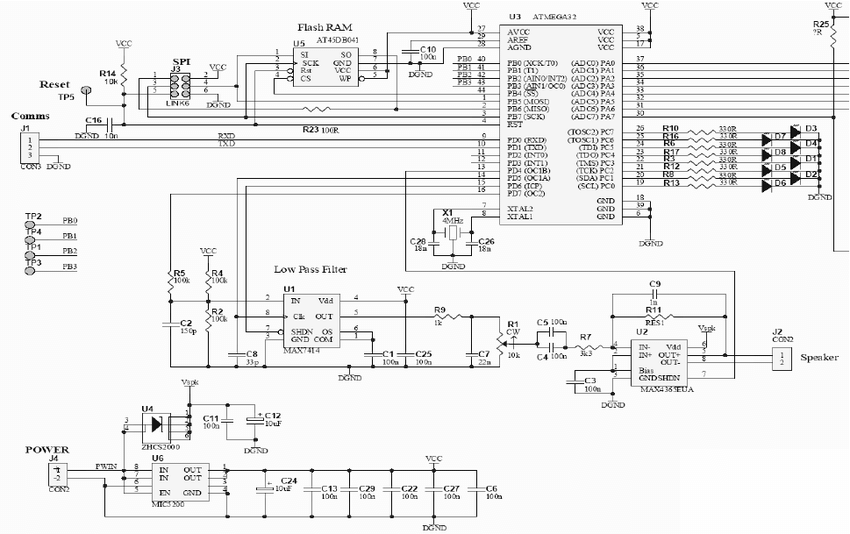 Schematic of the prototype circuit used for controlling