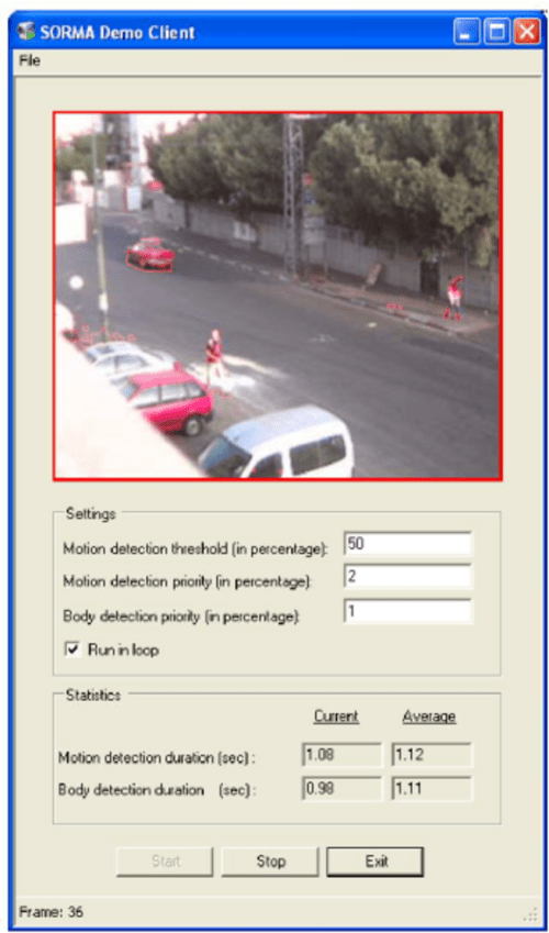 small resolution of demo client of correlation systems motion detection application
