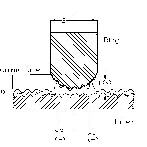 Assembly of lubricating pair Piston Ring and Cylinder Wall
