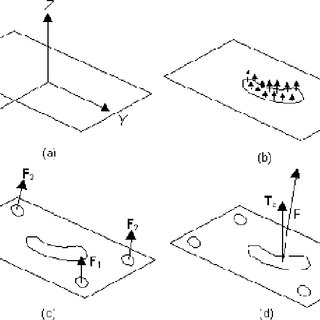 Schematic of coordinate and force plate calculation of