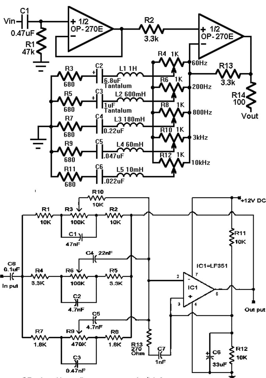 5 band graphic equaliser circuit diagram