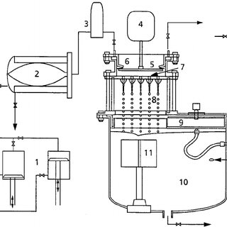 Schematic description of wastewater treatment by