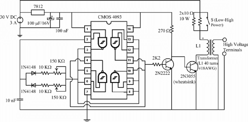High Voltage Generator Circuit Diagram