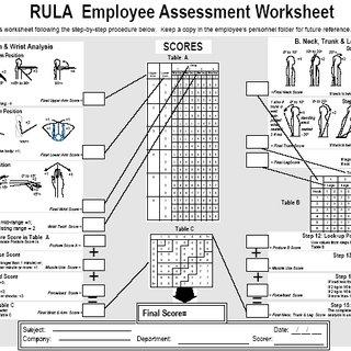 The Rula Employee Assessment Worksheet