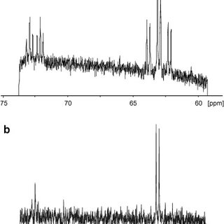 13C detected NMR noise spectrum of 13C labelled methanol