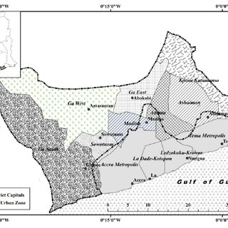 Composition of the Greater Accra Metropolitan Area (GAMA