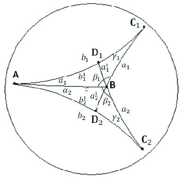 A concave gyroquadrilateral AD 1 BD 2 in a Möbius