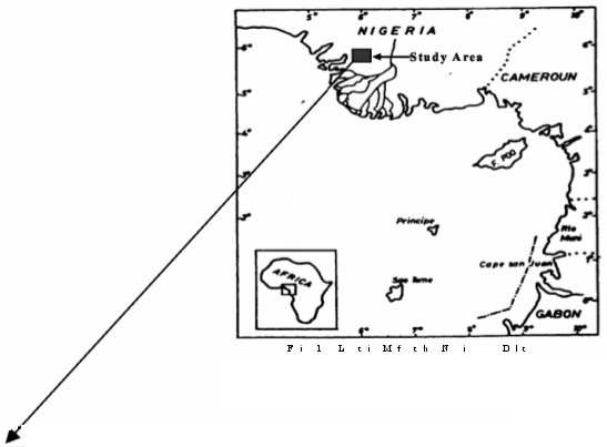 Location map of the Niger Delta Showing the Study Area