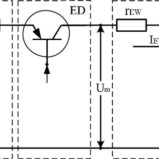 Diagram of the main power circuit of battery-driven
