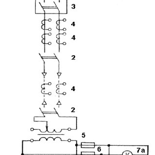 Schematic circuit diagram of turning resistance furnace on