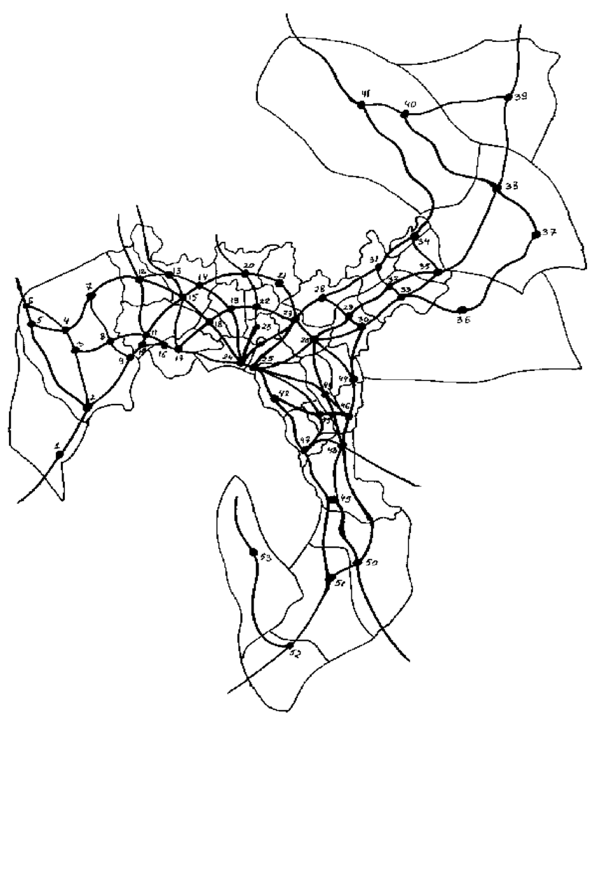 hight resolution of structure of the car network in oslo akershus region