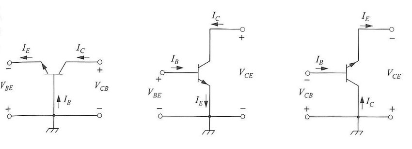 common base configuration circuit diagram allen bradley reversing starter wiring three of n p transistors in normal mode a
