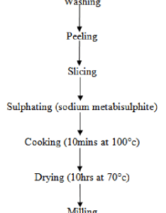 Flowchart for the production of yam flour also download scientific rh researchgate
