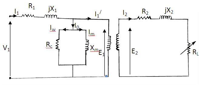 Per phase transformer equivalent circuit of a 3 phase