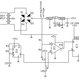 Complete circuit diagram of the automatic change over