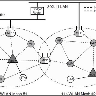 The Network Architecture for the IEEE 802.11s WLAN Mesh
