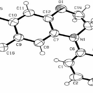 Molecular structure of title compound. Keywords: Copper