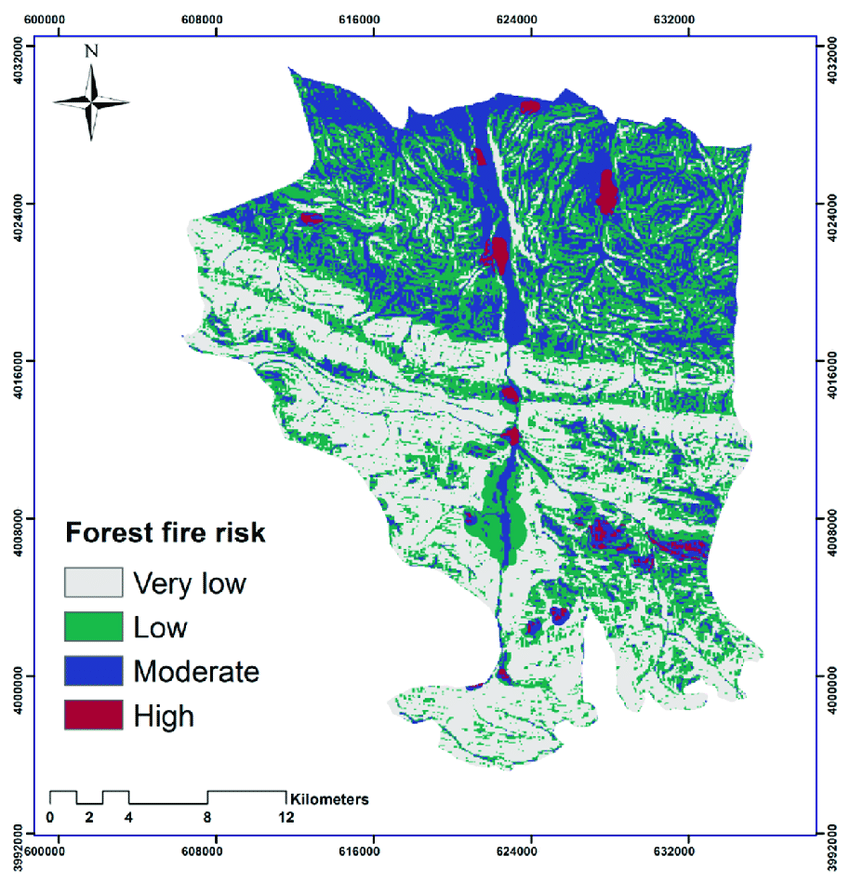 See current wildfires and wildfire perimeters on the fire, weather & avalanche center wildfire map. Forest Fire Risk Map Download Scientific Diagram