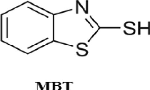 Chemical structure of the studied organic compound (MBT