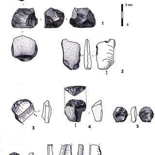 Chipped stone tools from Üçdutlar: end scrapers on flake