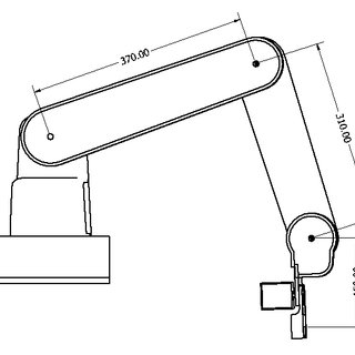 Model of Robot Arm's Upper Arm, Cover and Stepper Motor