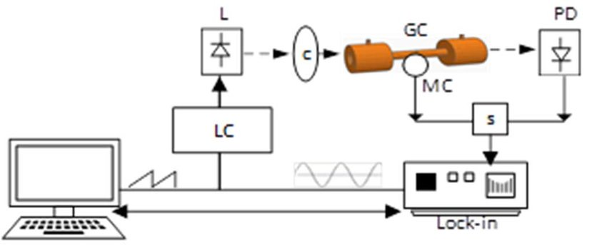 Block diagram of the system. Laser controller (LC), Laser