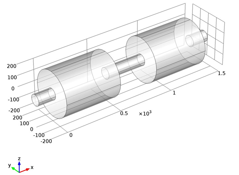 cross section diagram of muffler citroen c5 2005 wiring geometry the combined lined with circular