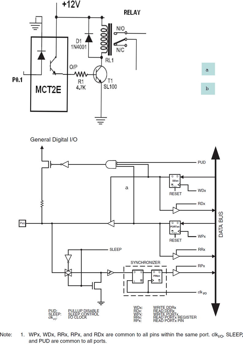 medium resolution of a circuit diagram to operate relay b general digital i o pins digital relay circuit diagram