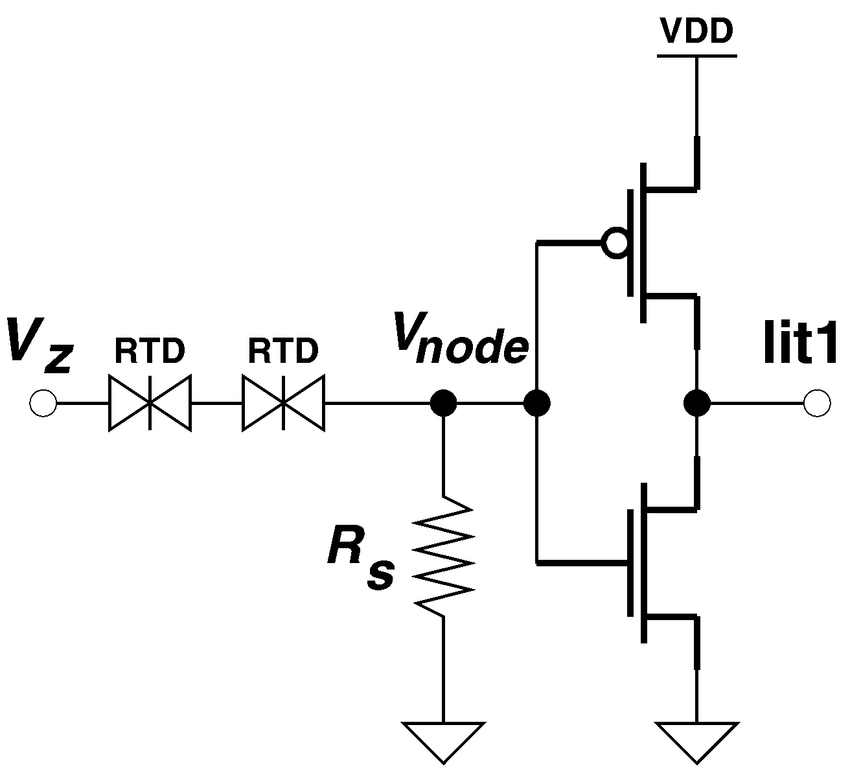 Compact literal circuit using RTD and CMOS devices