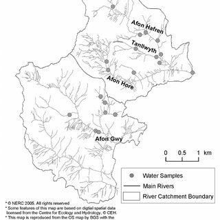 Location of the forested Hafren catchment, Plynlimon
