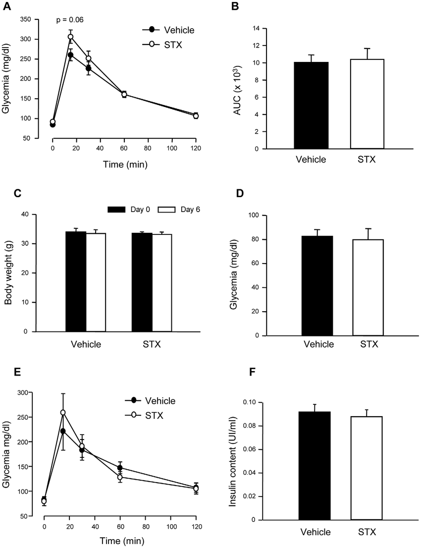 STX does not change glucose homeostasis in ovariectomized