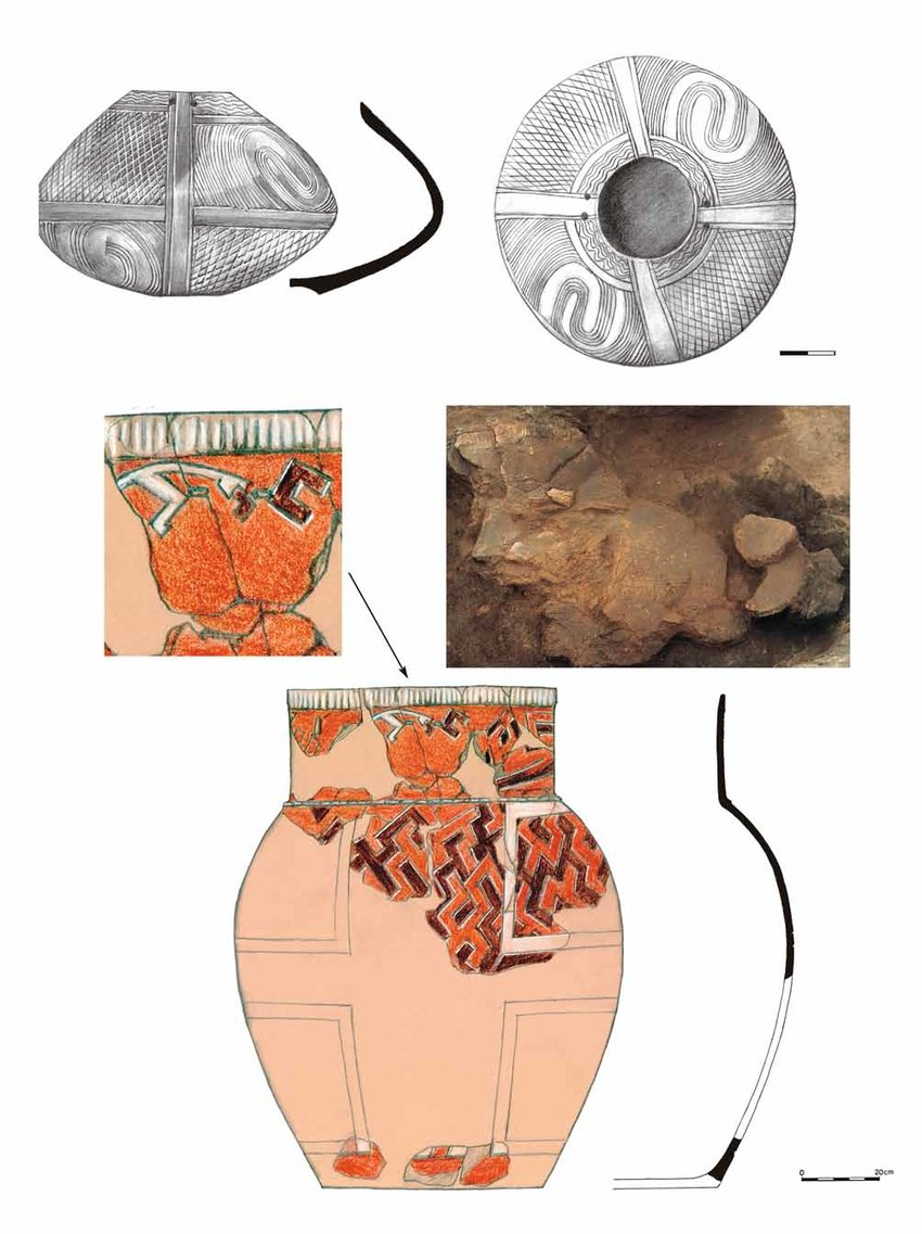 medium resolution of 1 b kktype vessel from a grave 2 storage vessel with human face