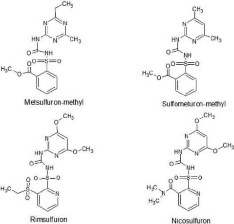 Chemistry structure for sulfonylurea herbicides