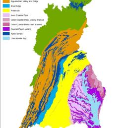 physiographic settings in the chesapeake bay watershed map generated by quentin stubbs usgs  [ 850 x 1101 Pixel ]