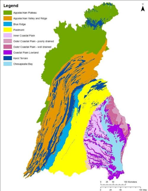 small resolution of physiographic settings in the chesapeake bay watershed map generated by quentin stubbs usgs