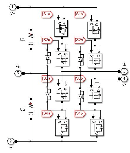 Neutral Point Clamped (NPC) inverter topology [2, 3