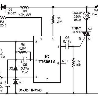 The circuit diagram of the Touch Sensor Mechanism
