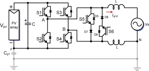 Transformerless Solar Inverter Circuit Electronic Circuit